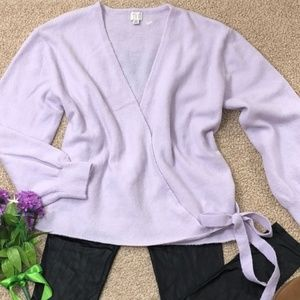 A new day Lavender Cashmere Tie Sweater
